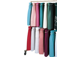 Snap Drape CAD20 Skirtmate 70 inch x 30 inch x 62 inch Table Skirting Mobile Hanger Caddy