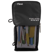 Mead 73993 4 1/2 inch x 8 inch Black Stand 'N Store Pencil Pouch