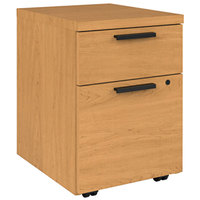 HON 105106CC 10500 Series Harvest Two-Drawer Mobile Pedestal Filing Cabinet - 15 3/4 inch x 18 7/8 inch x 21 7/8 inch