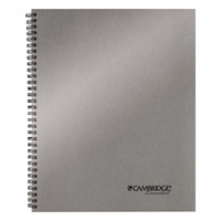 Cambridge 06327 Wirebound Silver 11 inch x 9 1/4 inch Legal Ruled Business Notebook - 80 Sheets