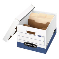 Fellowes 0083601 Banker's Box R-Kive 12 inch x 15 inch x 10 inch Heavy-Duty Letter / Legal File Storage Box with Locking Lid - 12/Case
