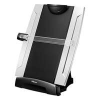 Fellowes 8033201 Office Suites 10 1/4 inch x 6 inch x 15 inch Black / Silver 150 Sheet Plastic Desktop Copyholder