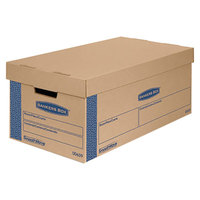Banker's Box 006590 SmoothMove Prime 24 inch x 12 inch x 10 inch Kraft / Blue Small Moving Box with Lift Lid   - 8/Case