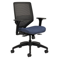 HON SVMM1ALCO90 Solve Series Midnight Ilira-Stretch M4 Mesh Back Task Chair with Casters