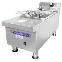 Bakers Pride BPHEF-15SI 15 lb. Electric Countertop Fryer - 208/240V, 5.74/4.28 kW