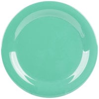 GET NP-9-FG Diamond Mardi Gras 9 inch Rainforest Green Narrow Rim Round Melamine Plate - 24/Case