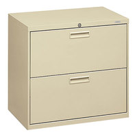HON 572LL 500 Series Putty Two-Drawer Lateral Filing Cabinet - 30 inch x 19 1/4 inch x 28 3/8 inch