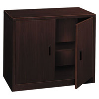 HON 105291NN 10500 Series Mahogany 2 Door Laminate Wood Storage Cabinet - 36 inch x 20 inch x 29 1/2 inch