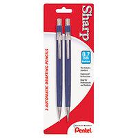 Pentel P207BP2K6 Blue Barrel 0.7mm Sharp HB Lead #2 Mechanical Drafting Pencil - 2/Pack