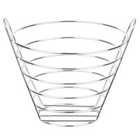 Clipper Mill by GET 4-22788-M 9 inch Chrome Plated Metal Round Wire Bucket Basket