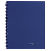 Mead 45009 9 1/2 inch x 7 1/4 inch Navy Blue Legal Rule 1 Subject Guided Business Notebook - 80 Sheets