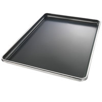 Chicago Metallic 50801 StayFlat Full Size 18 Gauge DuraShield Aluminum Customizable Sheet Pan - Wire in Rim