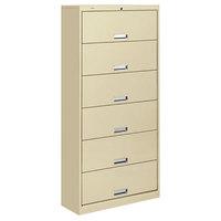 HON 626CLL 600 Series Putty Six-Shelf Receding Door Filing Cabinet - 36 inch x 16 3/4 inch x 75 7/8 inch