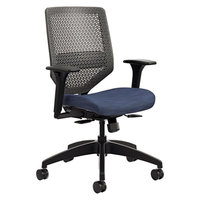 HON SVMR1ACLCO90 Solve Series Midnight/Charcoal Ilira-Stretch M4 Mesh Back Task Chair with Casters