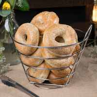 Clipper Mill by GET 4-22789-L 10 1/2 inch Stainless Steel Round Wire Bucket Basket
