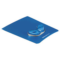 Fellowes 9180601 Blue Mouse Pad with Gel Gliding Palm Support and Microban Protection