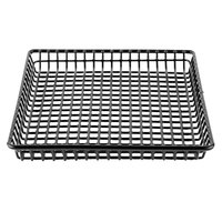 Clipper Mill by GET 4-35999 9 inch x 9 inch Black Square Grid Basket