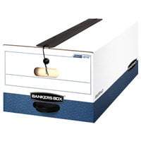 Fellowes 12112 Banker's Box 15 inch x 24 inch x 10 inch Extra Strength Legal File Storage Box with String & Button Closure   - 12/Case