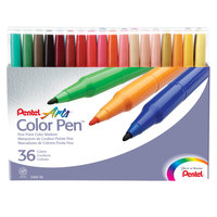 Pentel S36036 Arts Color Pen 36-Color Assorted Fine Point Color Marker Set