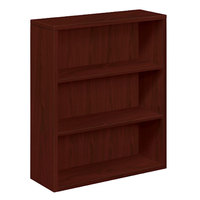 HON 105533NN 10500 Series Mahogany 3 Shelf Laminate Wood Bookcase - 36 inch x 13 1/8 inch x 43 3/8 inch