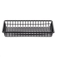 Clipper Mill by GET 4-35809 9 inch x 7 inch Black Polyethylene Coated Iron Rectangular Grid Basket