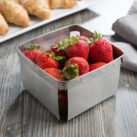 Clipper Mill by GET 4-80848 5 inch Stainless Steel Square Berry Basket