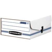 Banker's Box 48110 Binder-Pak 11 3/8 inch x 9 1/8 inch x 4 3/8 inch Storage Box with Snap Fastener
