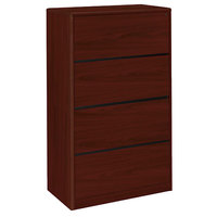 HON 107699NN 10700 Series Mahogany Four-Drawer Lateral Filing Cabinet - 36 inch x 20 inch x 59 1/8 inch