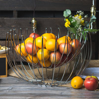 Clipper Mill by GET WBHANG-19 19 inch Chrome Plated Iron Suspended Wire Basket