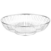 Clipper Mill by GET WB-712 11 inch x 8 3/4 inch Chrome Plated Iron Oval Wire Basket