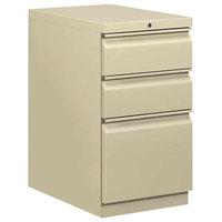 HON 33723RL Efficiencies Putty Three-Drawer Mobile Pedestal Filing Cabinet - 15 inch x 22 7/8 inch x 28 inch