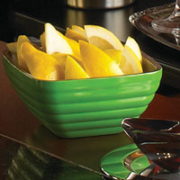Vollrath 4761935 24 oz. Stainless Steel Double Wall Green Apple Square Beehive Serving Bowl