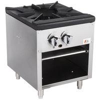 Cooking Performance Group CPG-SPR-18-N Natural Gas Stock Pot Range - 80,000 BTU