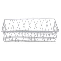 Clipper Mill by GET IR-904 Gray Powder Coated Iron Wire Pastry Basket - 18 inch x 12 inch x 4 inch