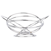 Clipper Mill by GET WB-715 13 inch Chrome Plated Iron Intercircle Wire Basket with Base