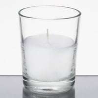 Leola Candle 15 Hour Clear Wax Filled Glass Candle - 12/Pack