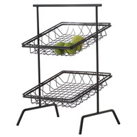 Clipper Mill by GET WB-103B Black Powder Coated Iron Square Wire Basket - 12 inch x 12 inch x 2 inch