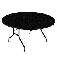 Correll CF60PX07 60 inch Round Black Granite High Pressure Heavy Duty Folding Table