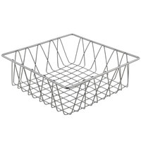 Clipper Mill by GET IR-912 Gray Powder Coated Square Wire Basket - 12 inch x 12 inch x 4 inch