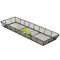 Clipper Mill by GET WB-706 22 inch x 7 inch Black Powder Coated Iron Braided Rectangular Wire Basket
