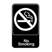 Vollrath 5613 Traex® No Smoking Sign - Black and White, 6 inch x 9 inch