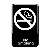 Vollrath 5613 Traex No Smoking Sign - Black and White, 6 inch x 9 inch