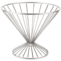 Clipper Mill by GET IRB-102C 10 3/4 inch Chrome Plated Iron Round Wire Basket with Base