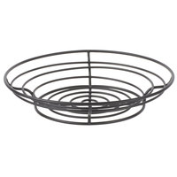 Clipper Mill by GET WB-720 15 inch Black Powder Coated Iron Round Wire Basket