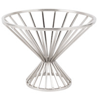 Clipper Mill by GET IRB-101C 8 3/4 inch Chrome Plated Iron Round Wire Basket with Base