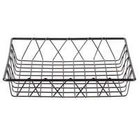 Clipper Mill by GET IR-911 Gray Powder Coated Square Wire Basket - 12 inch x 12 inch x 2 inch