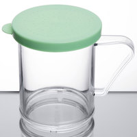 Cambro 96SKRF135 Camwear 10 oz. Polycarbonate Shaker with Green Lid for Fine Ground Product