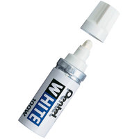 Pentel 100W White Broad Tip Permanent Marker   - 12/Pack