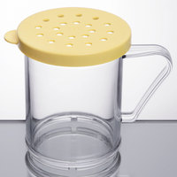 Cambro 96SKRC135 Camwear 10 oz. Polycarbonate Shaker with Yellow Lid for Cheese