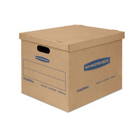 Banker's Box 7714210 SmoothMove Classic 15 inch x 12 inch x 10 inch Kraft / Blue Small Moving Box   - 20/Case